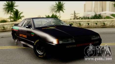 Elegy NASCAR PJ for GTA San Andreas back view