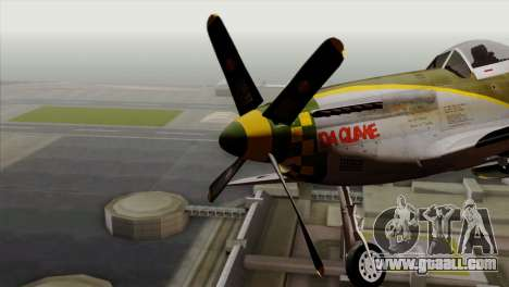 P-51D Mustang Da Quake for GTA San Andreas back view