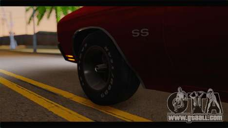 Chevrolet Chevelle 1970 Flat Shadow for GTA San Andreas back left view