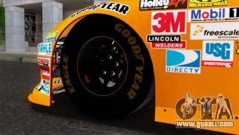 NASCAR Dodge Charger 2012 Short Track for GTA San Andreas back left view