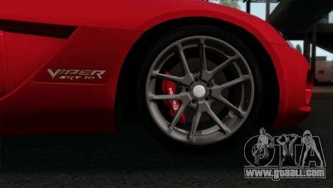 Dodge Viper SRT10 v1 for GTA San Andreas back left view