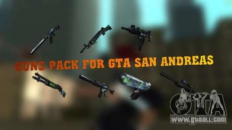 Guns Pack for GTA San Andreas