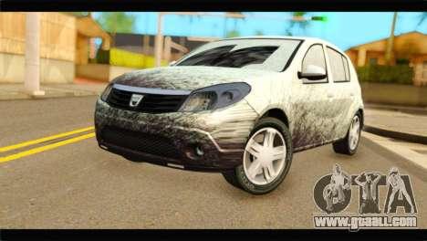 Dacia Sandero Dirty Version for GTA San Andreas