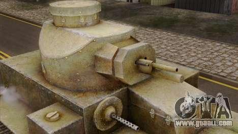 T2 Medium Tank for GTA San Andreas right view