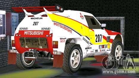 Mitsubishi Pajero for GTA San Andreas back left view