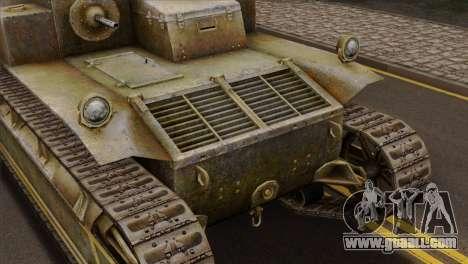 T2 Medium Tank for GTA San Andreas back view