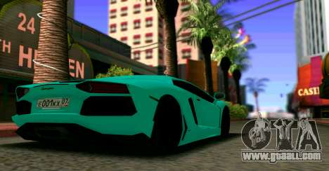 Lamborghini Aventador LP700-4 2012 for GTA San Andreas left view