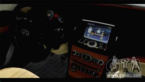 Infiniti M56 for GTA San Andreas right view