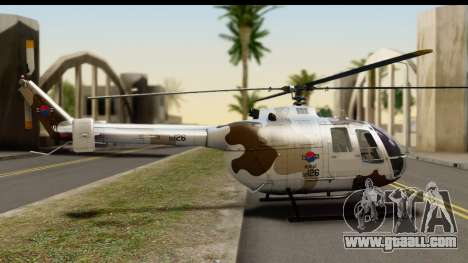 MBB Bo-105 Korean Army for GTA San Andreas left view