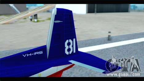 Beechcraft T-6 Texan II Red for GTA San Andreas back left view