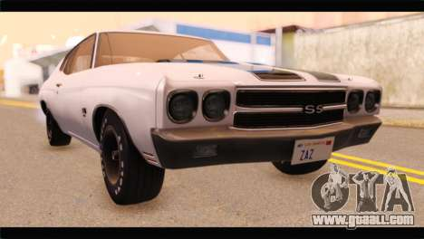 Chevrolet Chevelle 1970 3D Shadow for GTA San Andreas