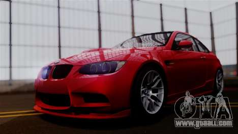 BMW M3 E92 GTS 2012 v2.0 Final for GTA San Andreas back left view