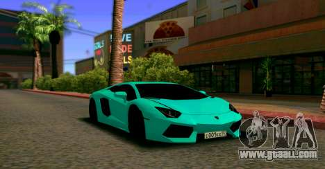 Lamborghini Aventador LP700-4 2012 for GTA San Andreas back view