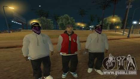 Ballas Skin Pack for GTA San Andreas second screenshot
