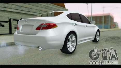Infiniti M56 for GTA San Andreas left view