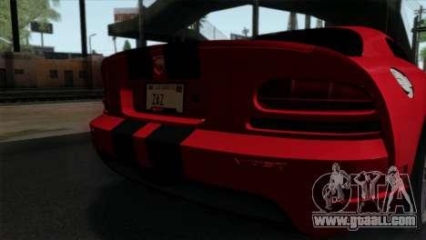Dodge Viper SRT10 v1 for GTA San Andreas back view