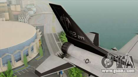 F-16C Fighting Falcon Wind Sword Squadron for GTA San Andreas back left view