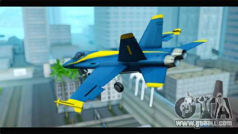 McDonnell Douglas FA-18 Blue Angel for GTA San Andreas left view