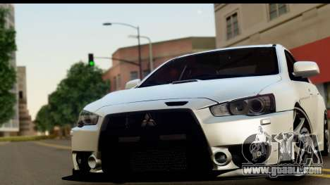Mitsubishi Lancer Evo X for GTA San Andreas back left view