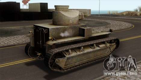 T2 Medium Tank for GTA San Andreas left view