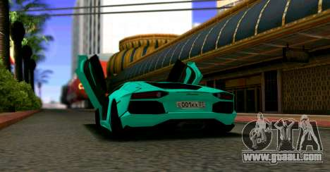 Lamborghini Aventador LP700-4 2012 for GTA San Andreas back left view