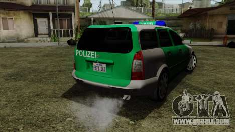 Opel Astra G 1999 Police for GTA San Andreas left view