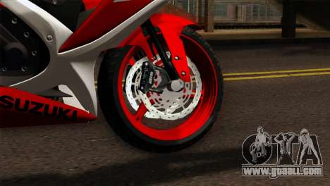 Suzuki GSX-R 2015 Red & White for GTA San Andreas back left view