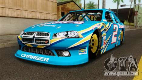 NASCAR Dodge Charger 2012 Plate Track for GTA San Andreas