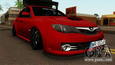 Subaru Impreza WRX STI Stanced for GTA San Andreas
