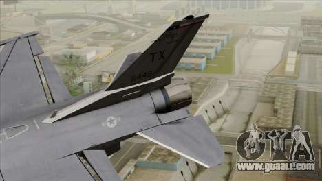 F-16D Fighting Falcon for GTA San Andreas back left view