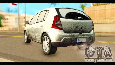 Dacia Sandero Dirty Version for GTA San Andreas left view