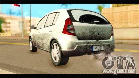 Dacia Sandero Dirty Version for GTA San Andreas left view