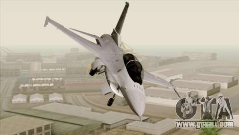 F-16D Fighting Falcon for GTA San Andreas back view