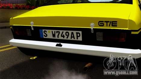 Opel Kadett E GTE 1900 Italian Rally for GTA San Andreas back view
