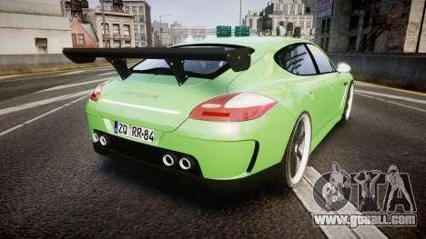 Porsche Panamera Turbo 2010 for GTA 4 back left view