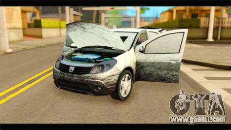 Dacia Sandero Dirty Version for GTA San Andreas back view