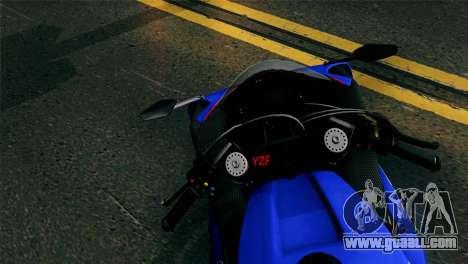 Yamaha YZF-R1 PJ for GTA San Andreas back left view