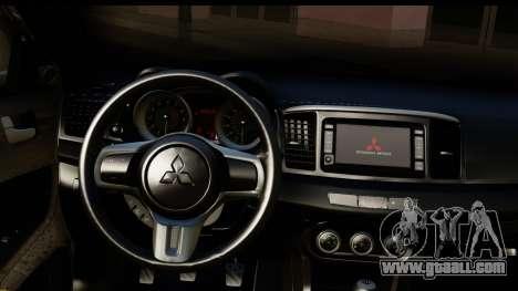 Mitsubishi Lancer Evo X for GTA San Andreas inner view