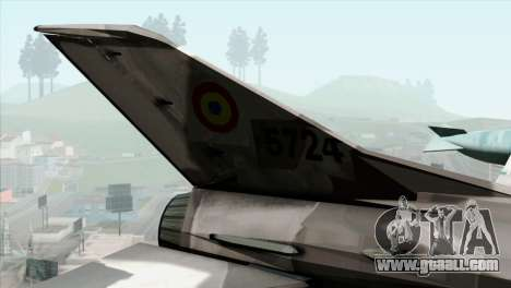 Hawker Hunter F6A for GTA San Andreas back left view
