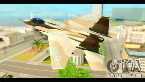 Boeing F-15C IAF for GTA San Andreas left view