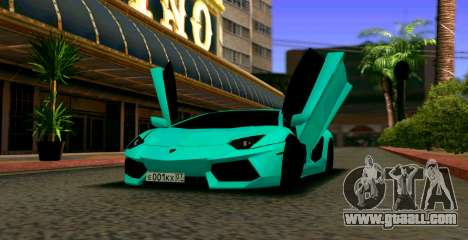 Lamborghini Aventador LP700-4 2012 for GTA San Andreas
