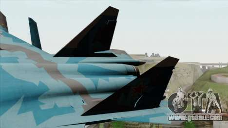 SU-47 Berkut Winter Camo for GTA San Andreas back left view
