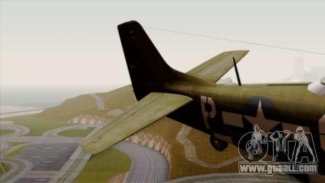 P-51D Mustang Da Quake for GTA San Andreas back left view