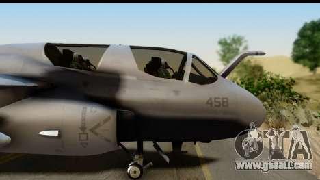 Northrop Grumman EA-6B VAQ-194 Skyshields for GTA San Andreas back left view