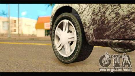 Dacia Sandero Dirty Version for GTA San Andreas back left view