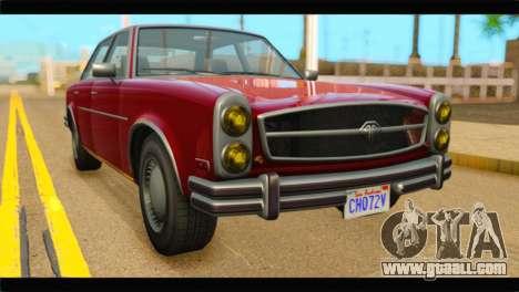 GTA 5 Benefactor Glendale IVF for GTA San Andreas