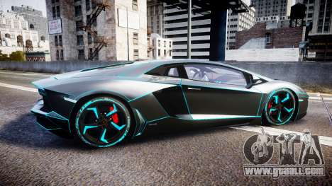 Lamborghini Aventador TRON Edition [EPM] Updated for GTA 4 left view