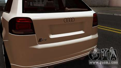 Audi S3 2011 for GTA San Andreas back view
