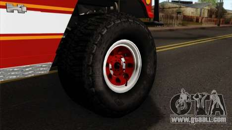 Hummer H1 Fire for GTA San Andreas back left view