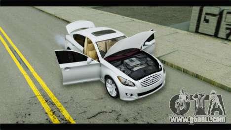 Infiniti M56 for GTA San Andreas back view
